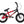 "Colony Horizon 14"" Micro Freestyle BMX (Black/Red Fade)"