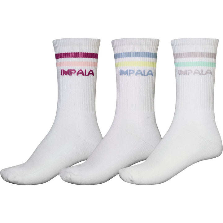 Impala Stripe Sock 3 Pack (Pale Colours)