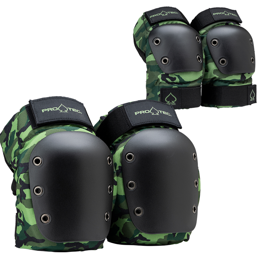 Protec Street Knee & Elbow Pads Pack - Adult (Camo)