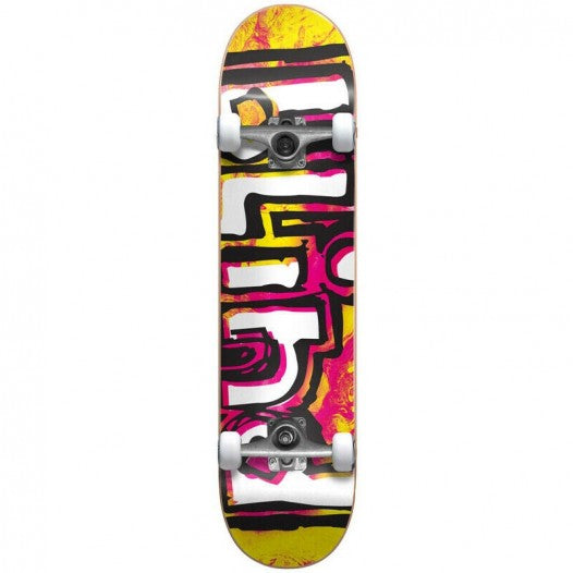 "Blind - OG Water Colour Soft Top Complete Skateboard (6.75"") Yellow / Pink"