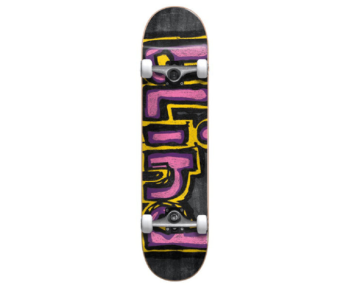 "Blind - Chalk Yellow, Purple, Pink Complete Skateboard  (8.0"")"