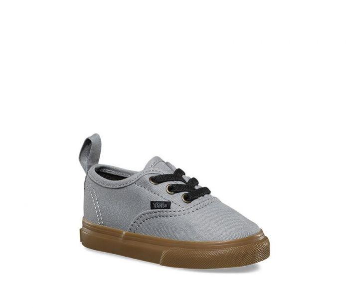 Vans Toddler Authentic Elastic Lace Gumsole (Grey)