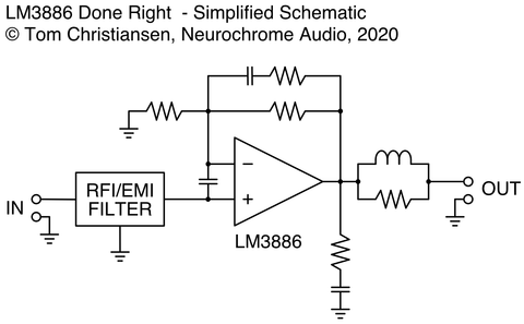 LM3886DR Block Diagram