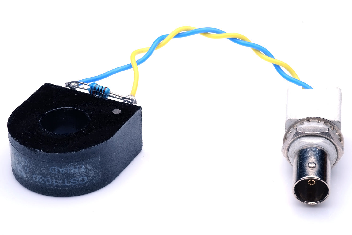 Cheap current probe made from Triad CST-1030 for measuring current with an oscilloscope