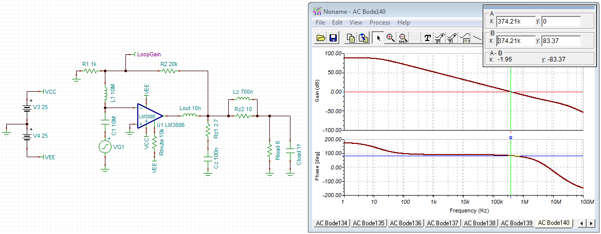 """LM3886 without """"optional stability components"""""""