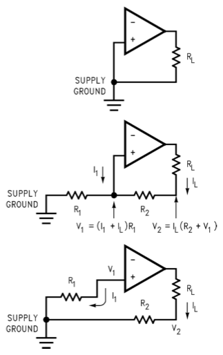LM3886 grounding