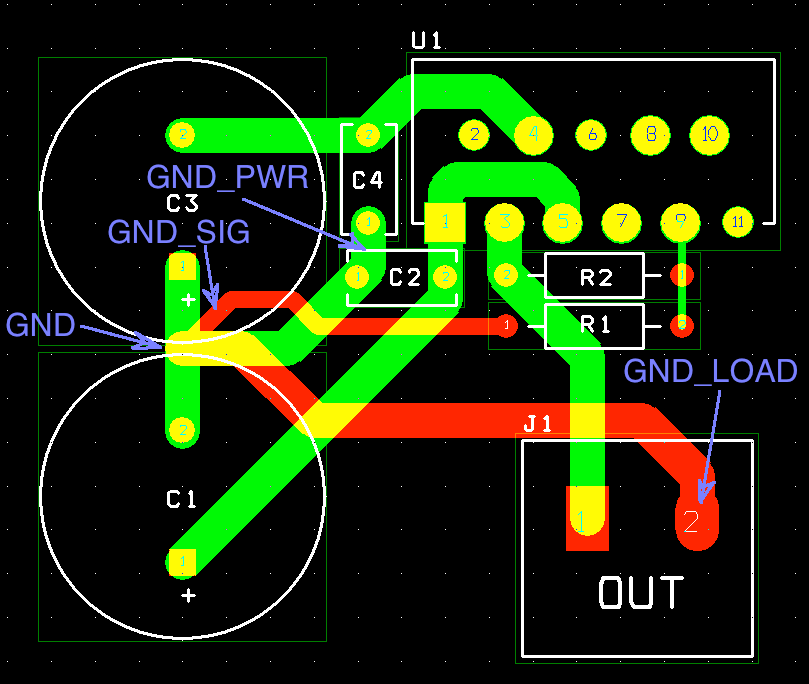 LM3886 representative DIY layout