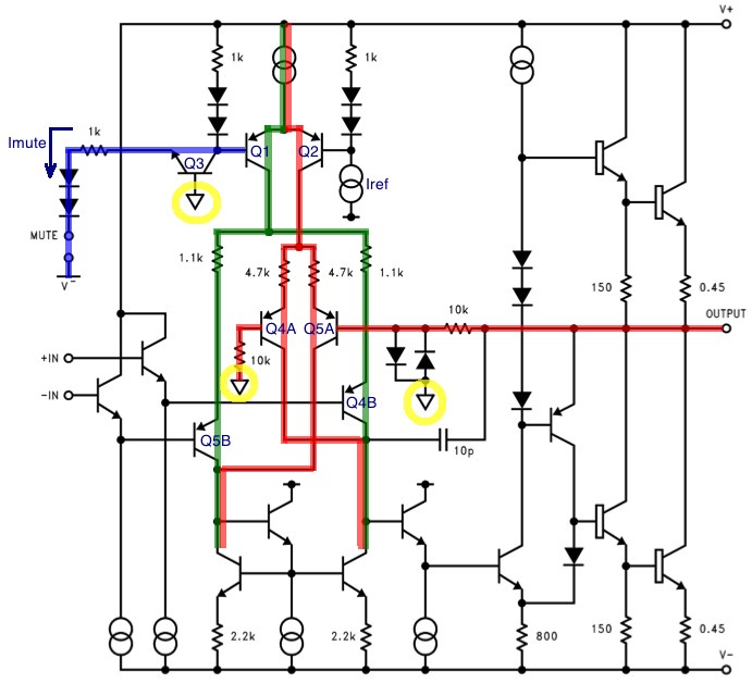 LM3886 mute circuit schematic