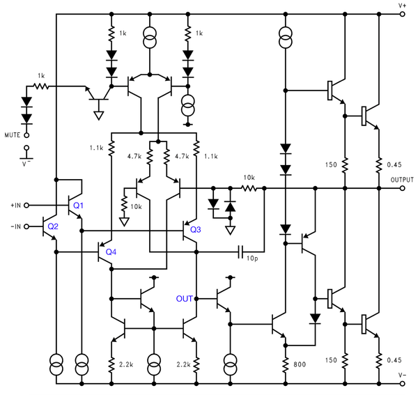 LM3886 simplified schematic