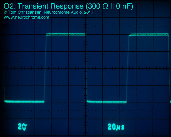 JDS Labs O2: Transient Response (300 Ω || 0 nF)