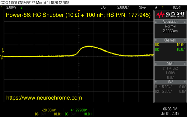 Transformer transient response with quick snubber design