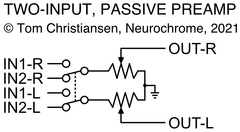 Passive preamp with input selector