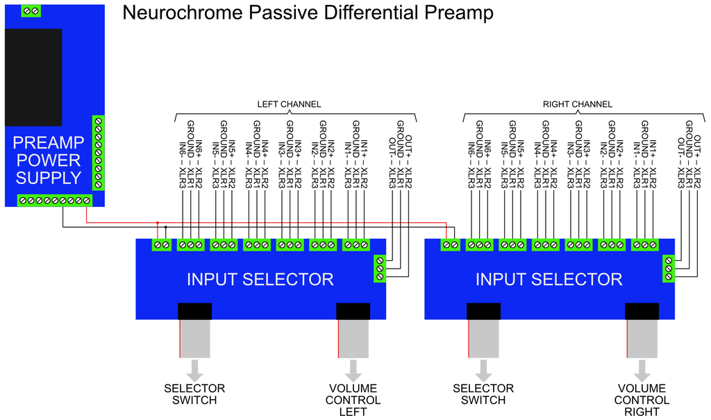 Passive balanced / differential preamp