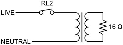 Measuring relay switch bounce and arcing (schematic)