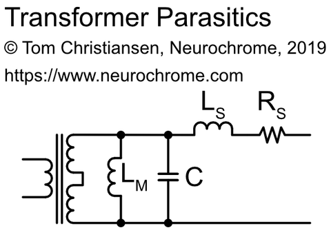 Transformer parasitic components equivalent circuit