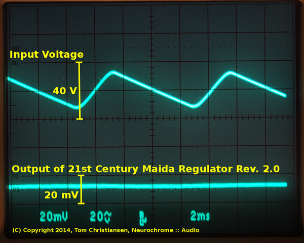 21st Century Maida Regulator input and output voltage