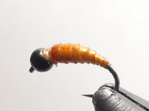 Latex Cased Caddis pattern by Fly.Culture