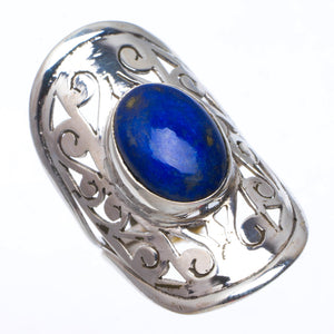 Natural Lapis Lazuli Handmade Unique 925 Sterling Silver Ring 6.75 A3938