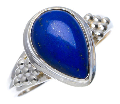 Natural Lapis Lazuli Handmade Unique 925 Sterling Silver Ring 8.25 A3981