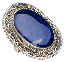 Natural Navy Sodalite Handmade Unique 925 Sterling Silver Ring 7.75 AU0029