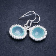 "Natural Chalcedony Handmade Unique 925 Sterling Silver Earrings 1.25"" A2257"