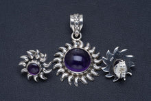 "Natural Amethyst Handmade Unique 925 Sterling Silver Jewelry Set Pendant 1.5"" Studs 0.5"" A3751"