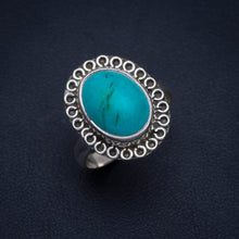 Natural Turquoise Handmade Unique 925 Sterling Silver Ring 7.75 A4159