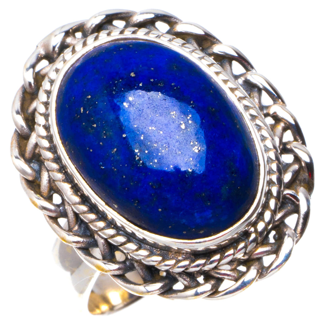 Natural Lapis Lazuli Handmade Unique 925 Sterling Silver Ring 5.75 B1139