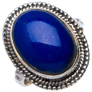 Natural Lapis Lazuli Handmade Unique 925 Sterling Silver Ring 7 B1423