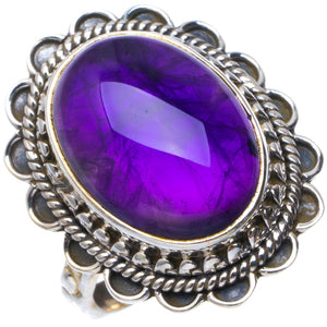 Natural Amethyst Handmade Unique 925 Sterling Silver Ring 6.75 B1505
