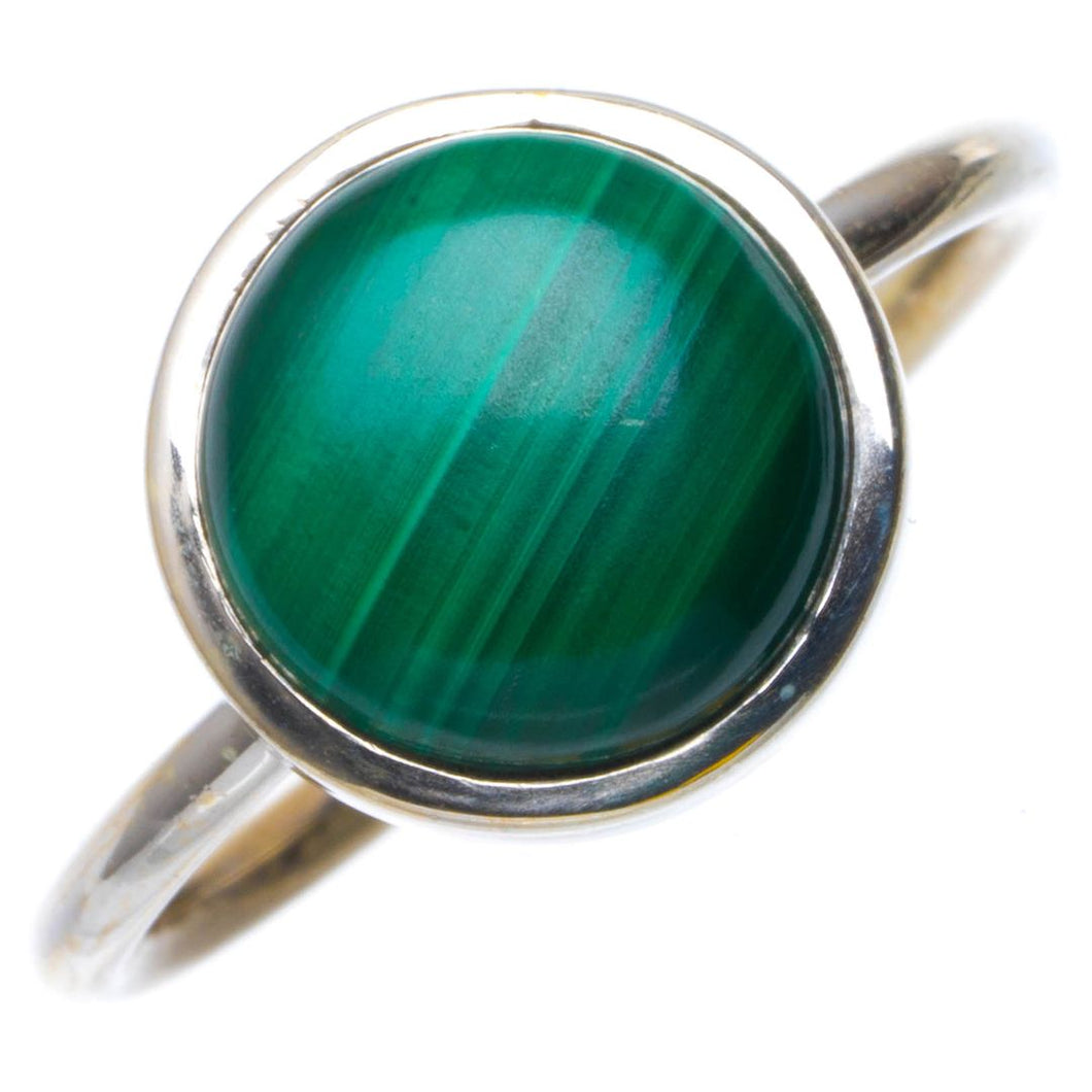 Natural Malachite Handmade Unique 925 Sterling Silver Ring 7.75 B1541