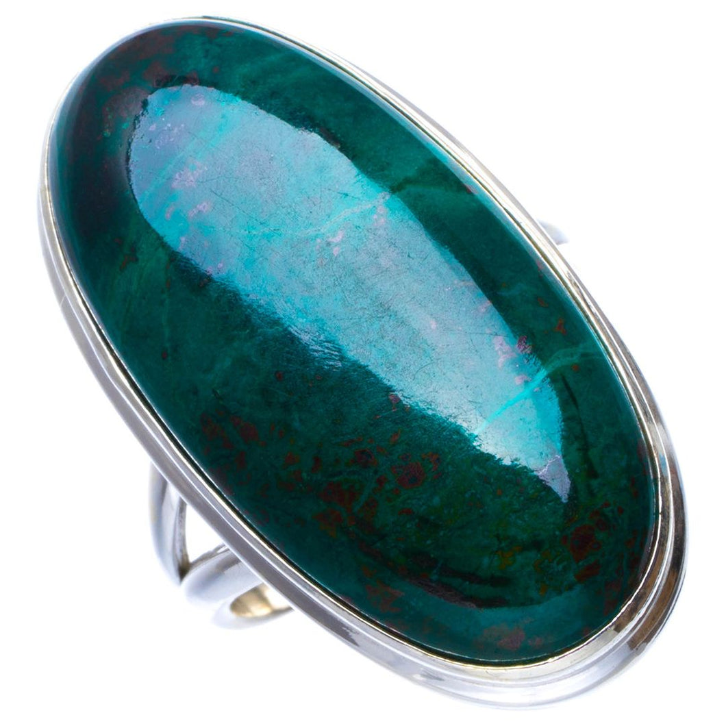 Natural Chrysocolla Handmade Unique 925 Sterling Silver Ring 5.75 B1650