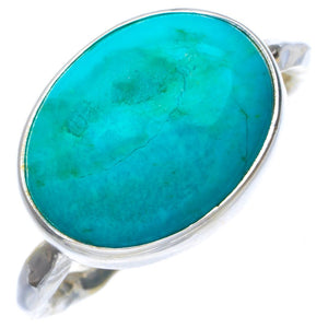 Natural Turquoise Handmade Unique 925 Sterling Silver Ring 9 B1801