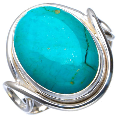 Natural Turquoise Handmade Unique 925 Sterling Silver Ring 6.5 B1816