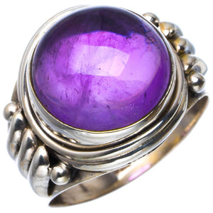 Natural Amethyst Handmade Unique 925 Sterling Silver Ring 7.25 B1839