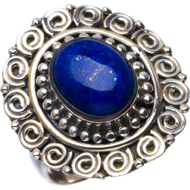 Natural Lapis Lazuli Handmade Unique 925 Sterling Silver Ring 8.25 B1850