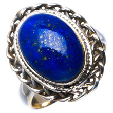 Natural Lapis Lazuli Handmade Unique 925 Sterling Silver Ring 6.75 B1867