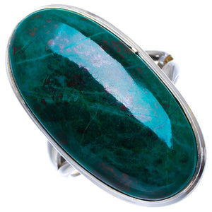 Natural Chrysocolla Handmade Unique 925 Sterling Silver Ring 6.75 B1879