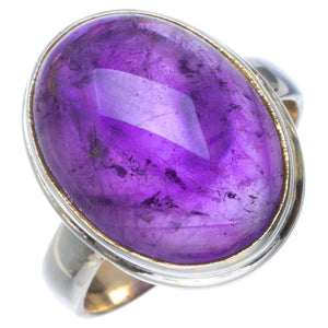 Natural Amethyst Handmade Unique 925 Sterling Silver Ring 5.75 B1966