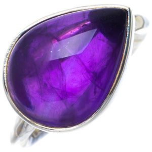 Natural Amethyst Handmade Unique 925 Sterling Silver Ring 6 B1981