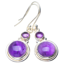 "Natural Amethyst Handmade Unique 925 Sterling Silver Earrings 1.5"" B2377"
