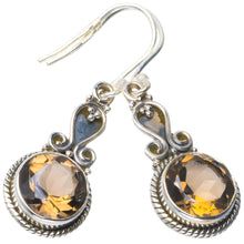 "Natural Smoky Quartz Handmade Unique 925 Sterling Silver Earrings 1.5"" B2408"