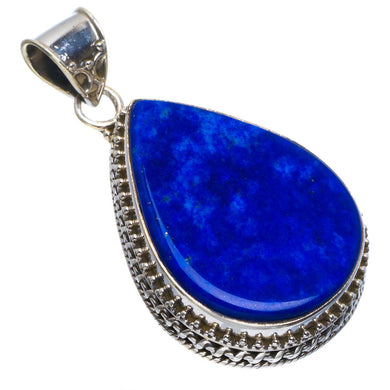 Natural Lapis Lazuli Handmade Unique 925 Sterling Silver Pendant 1.75