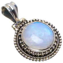 "Natural Rainbow Moonstone Handmade Unique 925 Sterling Silver Pendant 1.5"" B3450"