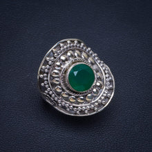 Natural Chrysoprase Handmade Unique 925 Sterling Silver Ring 7 B1048