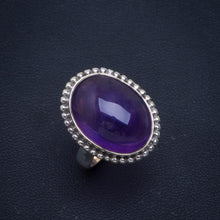 Natural Amethyst Handmade Unique 925 Sterling Silver Ring 7 B1079