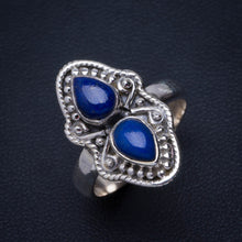 Natural Lapis Lazuli Handmade Unique 925 Sterling Silver Ring 7 B1163