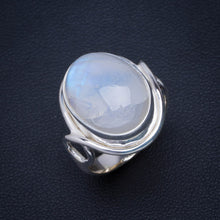 Natural Rainbow Moonstone Handmade Unique 925 Sterling Silver Ring 6.25 B1171
