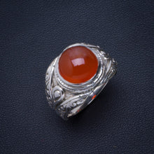 Natural Carnelian Handmade Unique 925 Sterling Silver Ring 8.5 B1193