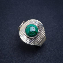 Natural Malachite Handmade Unique 925 Sterling Silver Ring 8.75 B1217